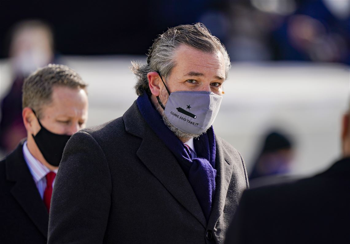Here's a hint sweetie, it was @tedcruz, look at the mask; same symbol as the flags on #CapitolHill! Keep defending traitors. #hypocrisy  @TheView, you support this???