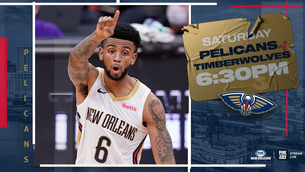 On to Minnesota 🐺  Pelicans Live on @FOXSportsNOLA begins at 6:30pm on Saturday as the Pels look to get back in the win column against the Minnesota Timberwolves!  @PelicansNBA | #WontBowDown https://t.co/Tq5T9ZnKJx