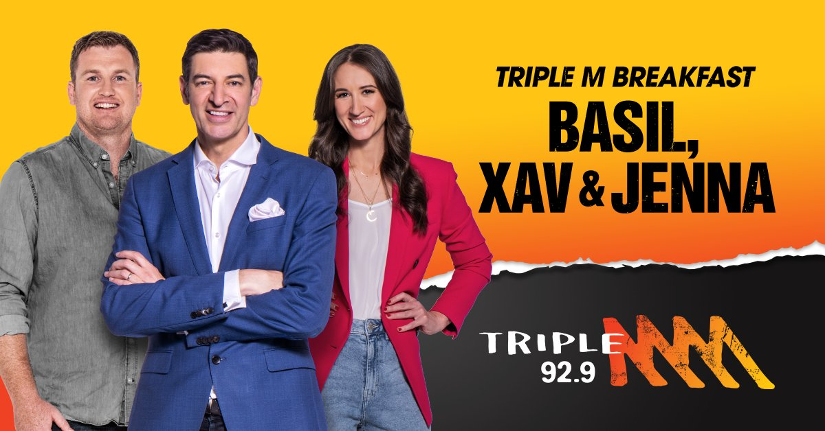 Ready, set, ROCK! Triple M is finally in Perth. Join Basil, Xav and Jenna for Breakfast weekdays from 5:30-9am for everything rock, sport and comedy and more on Perth's 92.9 Triple M. https://t.co/XjYVqTRNTV
