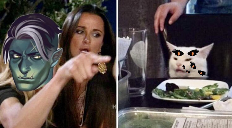 Fjord running into cat Lucien  #criticalrole #criticalrolespoilers