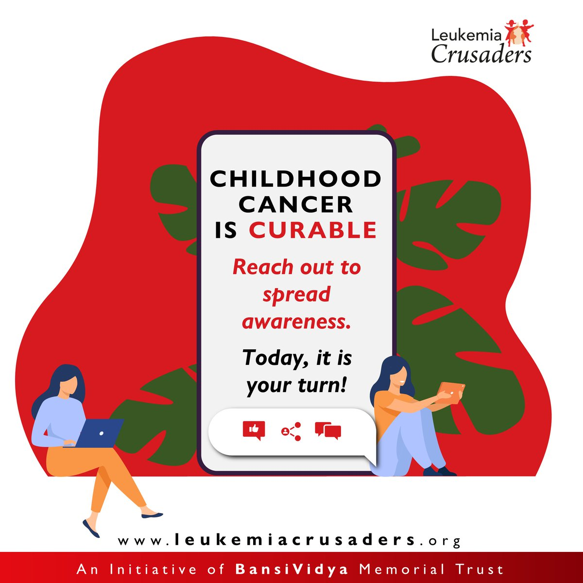 Spread awareness! Help us in fighting Leukemia. You and your social connection can really make a difference. #leukemia  #awerness #kids  #help  #reach #happy  #empowering #charity  #donations  #future