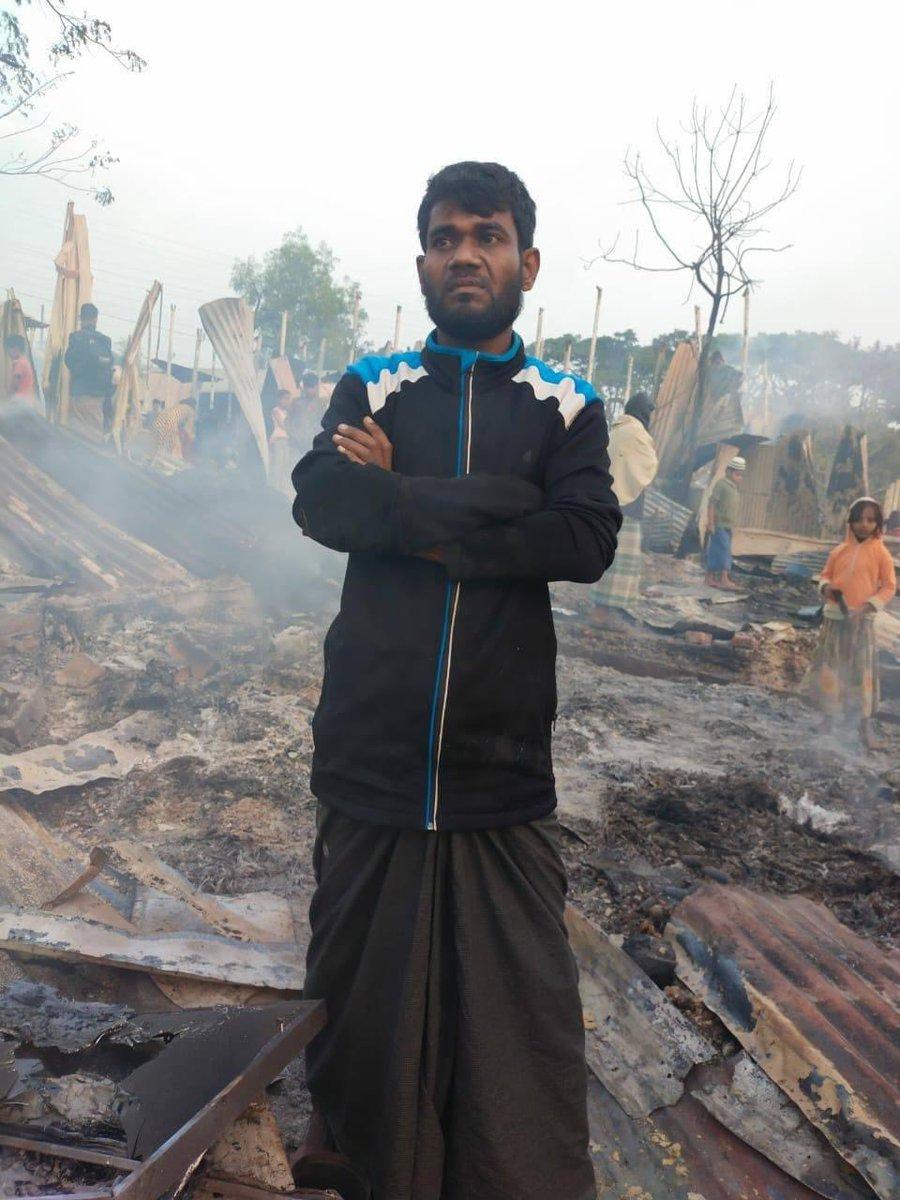 Malheureusement on se souvient des rohingyas uniquement lorsqu'ils subissent une tragédie !   Environ 600 foyers se retrouvent totalement démunis suite à cette incendie ravageur   https://t.co/a5IERFZxqF https://t.co/xL9wZchDrh