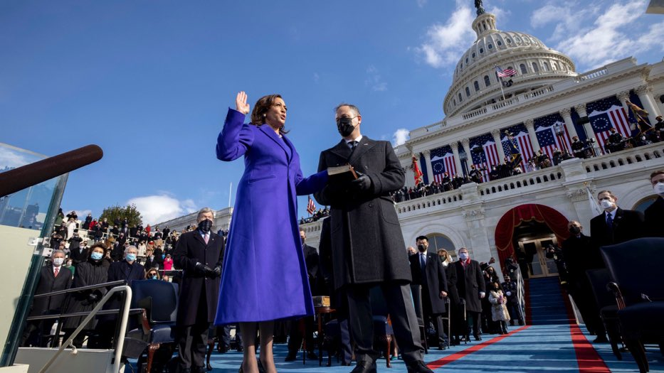 I'm so proud to finally we able to say MADAM VICE PRESIDENT.   #InaugurationDay