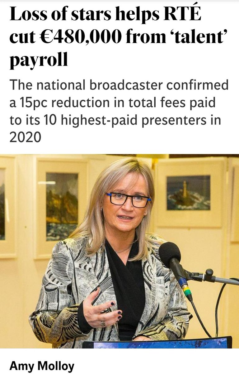 RTÉ'S claim that its overall bill for 'top talent' fell by around €480,000 last year includes the pay of the late Marian Finucane and retired Sean O'Rourke.  The two broadcasters had combined payments of €686,000 in 2019.  #HowIrelandWorks #Greed   https://t.co/YzCDD2FHip https://t.co/wQXQ6xgtnb