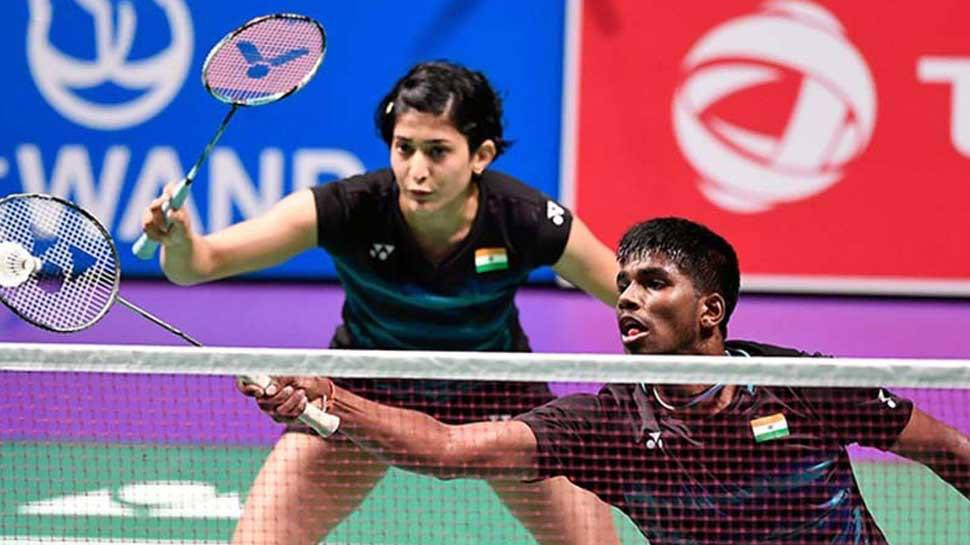A superb win by our #TOPSAthlete Mixed Doubles duo of @satwiksairaj and @P9Ashwini who beat World #7 Chan Peng Soon and Goh Liu Ying 18-21, 24-22, 22-20 to reach the semifinal of the #ToyotaThailandOpen. This is the 1st time they have reached the SF of a Super Series 1000 event.
