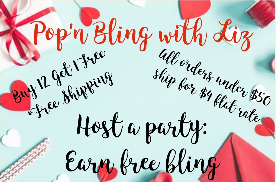Ask me how to get #free #bling.  I have lots of different styles of accessories to choose from, you are definitely going to see something that speaks to you. 😉  #popnblingwithliz #jewelry #vday #valentines #party #hearts #greatdeals #hostafacebookparty #SupportSmallBusinesses