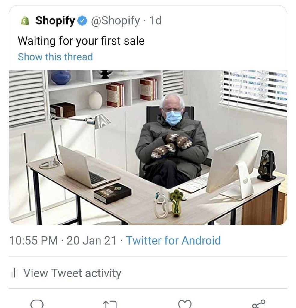 #ecommerce #shopify #berniememes #playalong   Where my email marketing bernie memes at?!   @klaviyo @hubspot @mailchimp @omnisend @emailonacid @mailerlite