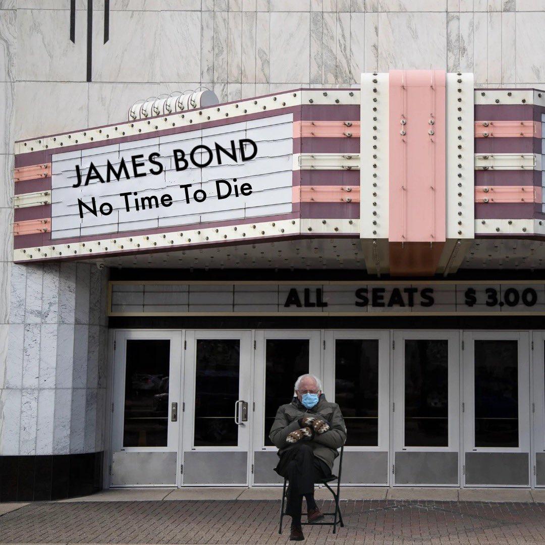 Waiting for the new James Bond film #Berniememes