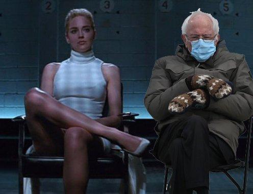 Ne mogu da odlučim... 😁 #BernieSanders #Berniememes #SharonStone