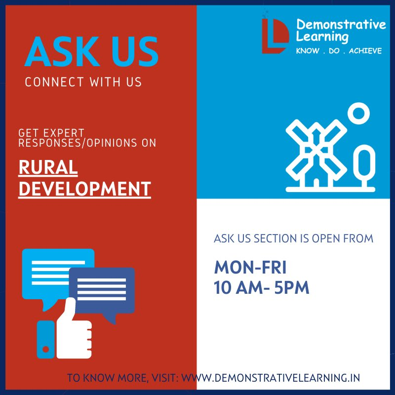 AskUs is a Q&A based interactive module which provides expert opinions/responses across various topics. Connect with us:    #LawEnforcement #Administration #RuralDevelopment #EducationinUrbanSlums #FinancialManagement #NGO #PrisonPrograms #SocialMedia