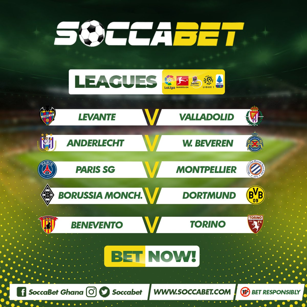 It's FRIDAAAAAAAAAY highlighted fixtures from SOCCABET!  #LaLigaSantander #Ligue1 #SerieA  #football #FootballTogether #bet
