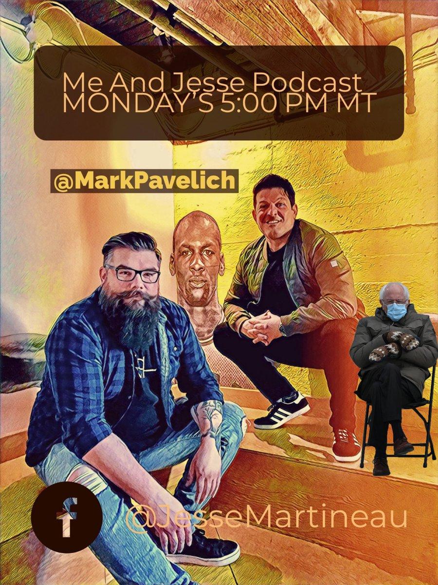 🎙#MeAndJesse Podcast   We had no choice!!!🤣  🔛#BernieMemes  🎙#SportsTalk365 via @MarkPavelich & @JesseMartineau