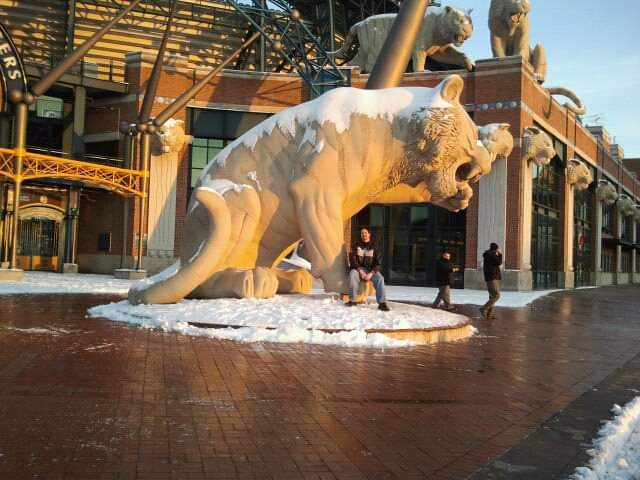 Also, random #TBT post, came across this pretty cool picture outside of Comerica Park... cannot wait for baseball to get going again!