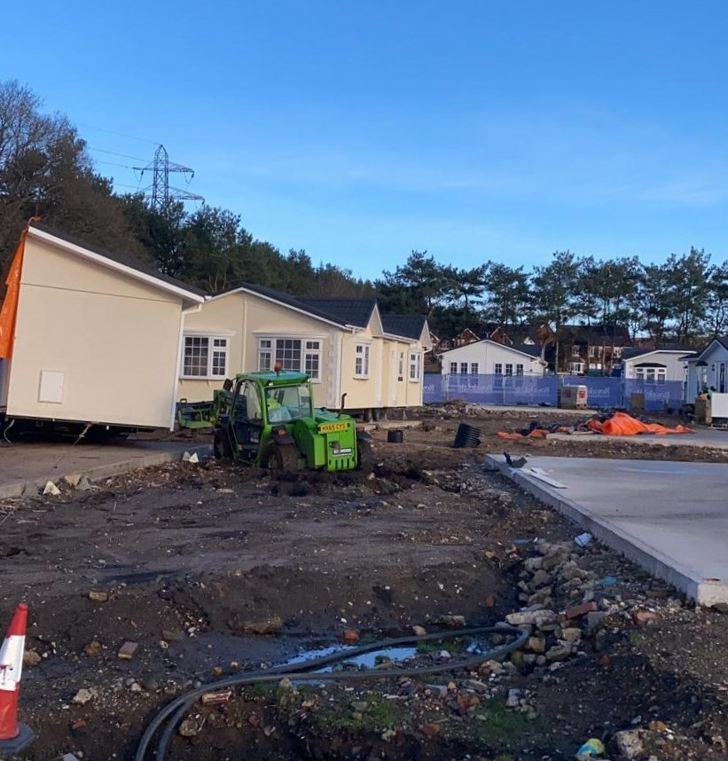 This residential park is clearly developing a new phase. Titans are pleased to be involved with setting up their latest park home on the development.   #transport #parkhomes #parkhome #holidayhome #holidayhomes #staycation #lifestyle