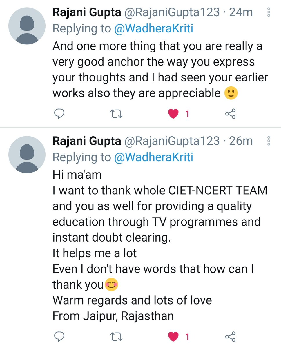 Appreciation all the way...Thanks to team NCERT...The kind of hardwork and dedication you have shown in this pandemic is commendable. #NCERT #Ciet #ncertindia #mhrd #moe #ministryofeducation