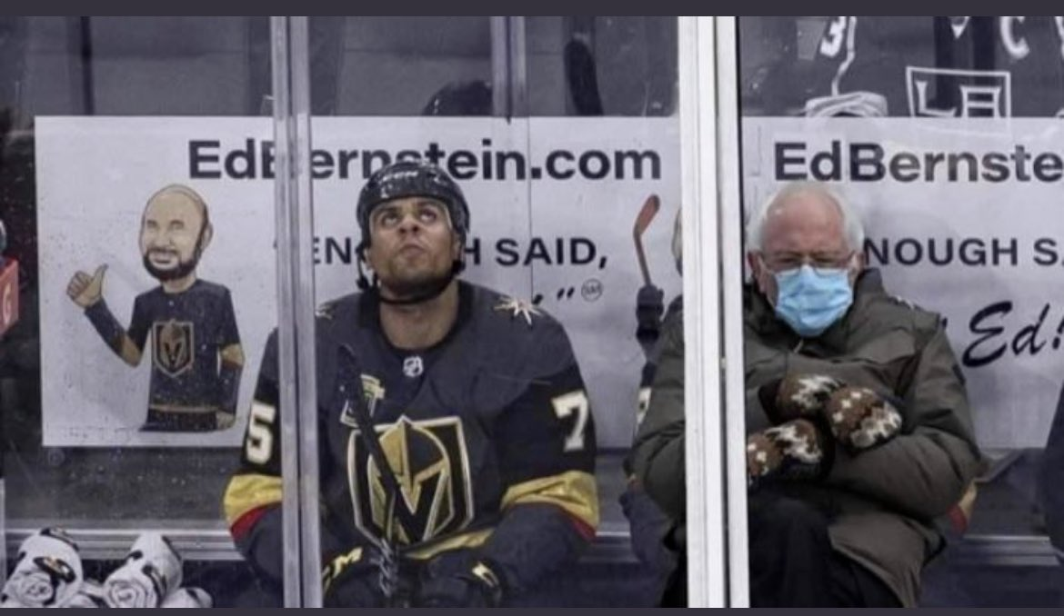 My favorite!!! @reavo7five of the @GoldenKnights 🤣 #Berniememes
