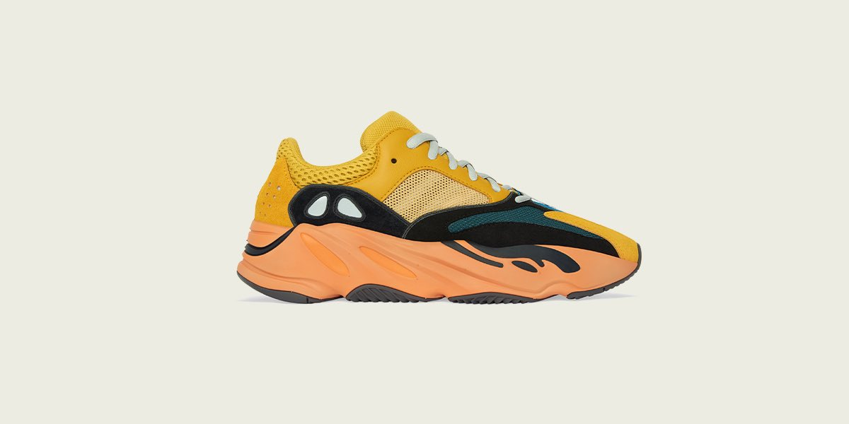 YEEZY BOOST 700 SUN. AVAILABLE JANUARY 23 AT , ON CONFIRMED IN THE UNITED STATES AND ON THE ADIDAS APP IN SELECT COUNTRIES.