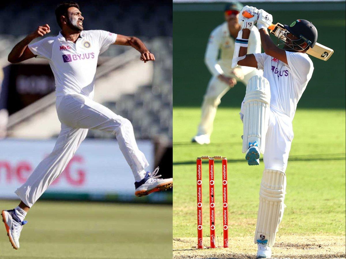 timesofindia: .@ashwinravi99 and @Sundarwashi5 return home after India's stunning series win in Australia   READ:   #Ashwin #WashingtonSundar #INDvAUS