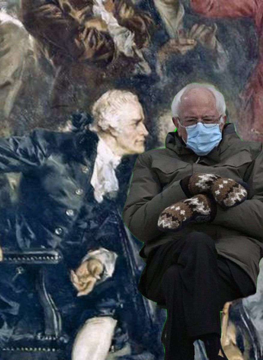 With this, I should go to bed. #Berniememes