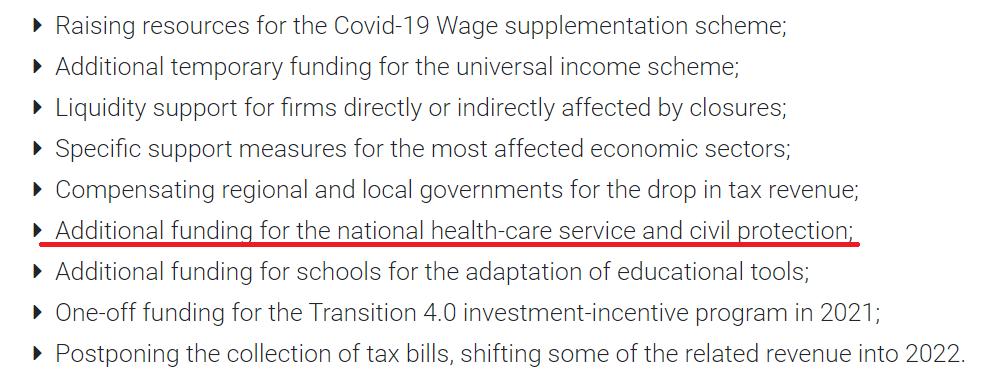 Ho sottolineato l'utilizzo dello scostamento per spese sanitarie; quelle che si potrebbero fare a costo negativo col MES Testo integrale qui https://t.co/NcJarvhzgw  7/7 https://t.co/ToiXa5lcdH