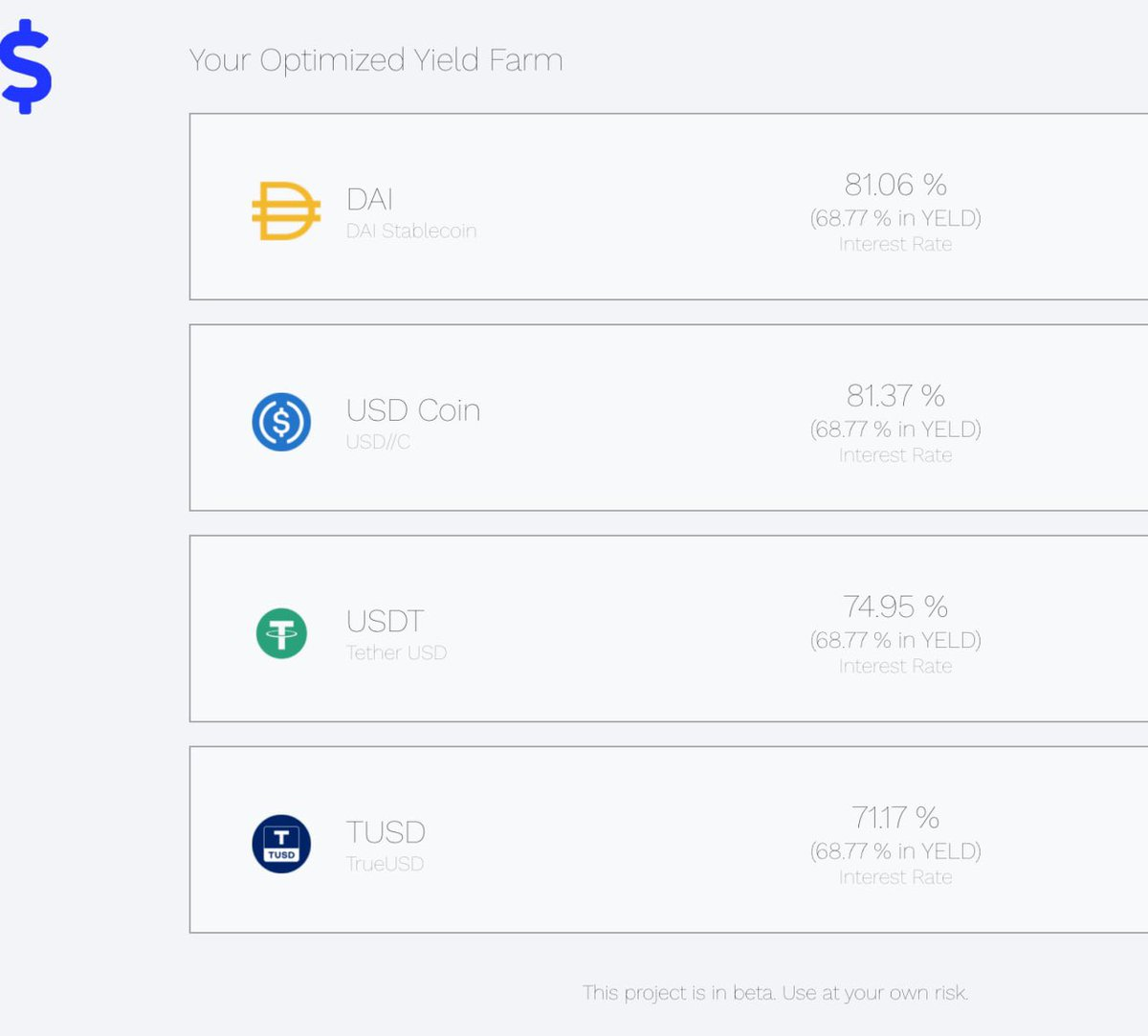 Sneak peek at the $YELD #APY on stablecoins. A higher valuation of $YELD means a higher APY on your stablecoins. So much more to come; the future at $YELD is bright @YeldF 👀 Don't sleep on this project 😴