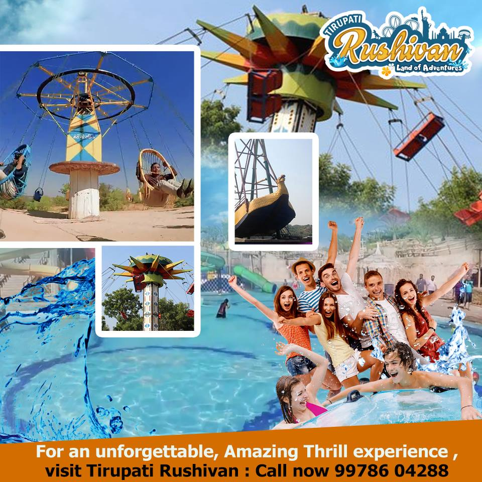 For an unforgettable, amazing Thrill experience, Visit us once and experience it !!!! Phone: +919978604288 Web :-  #TirupatiRushiVan #Entertainment #Conference #NaturePhotography #OneDayPicnic #waterpark  #enjoyment #amusementpark #rides #party