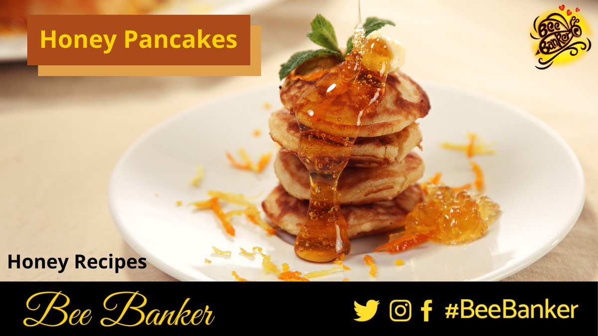 Add some twist to your regular pancakes by adding a spoonful of Honey to them.  #Honey #BeeBanker #BeeHappy #BeeHealthy #BeeSafe #BeeStrong #HoneyBee #BeeFit #VocalForLocal #HoneyPancake