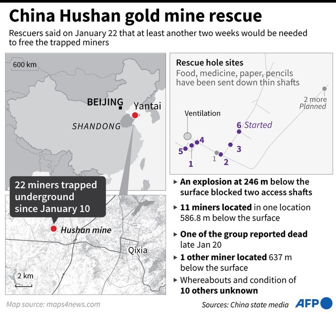 China mine rescue: Miners saved after knocking on pipe Photo