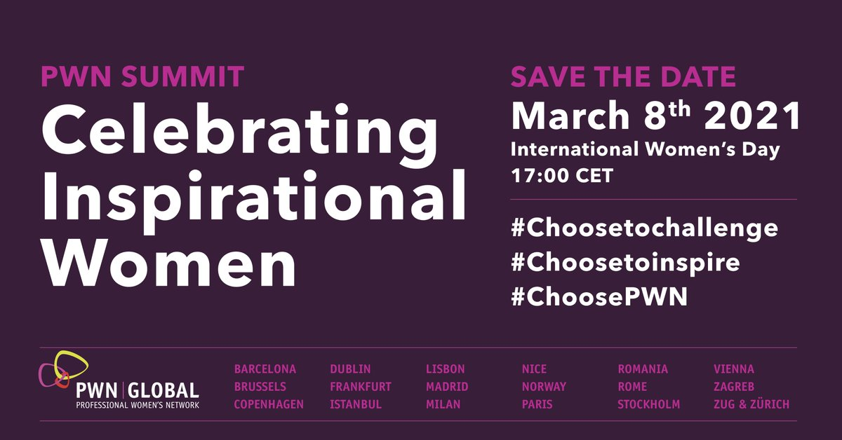 Join us on International Women's Day for an uplifting event celebrating the inspirational women who continue to challenge the status quo.   #internationalwomensday #celebratinginspirationalwomen #choosetochallenge #choosetoinspire #choosePWN