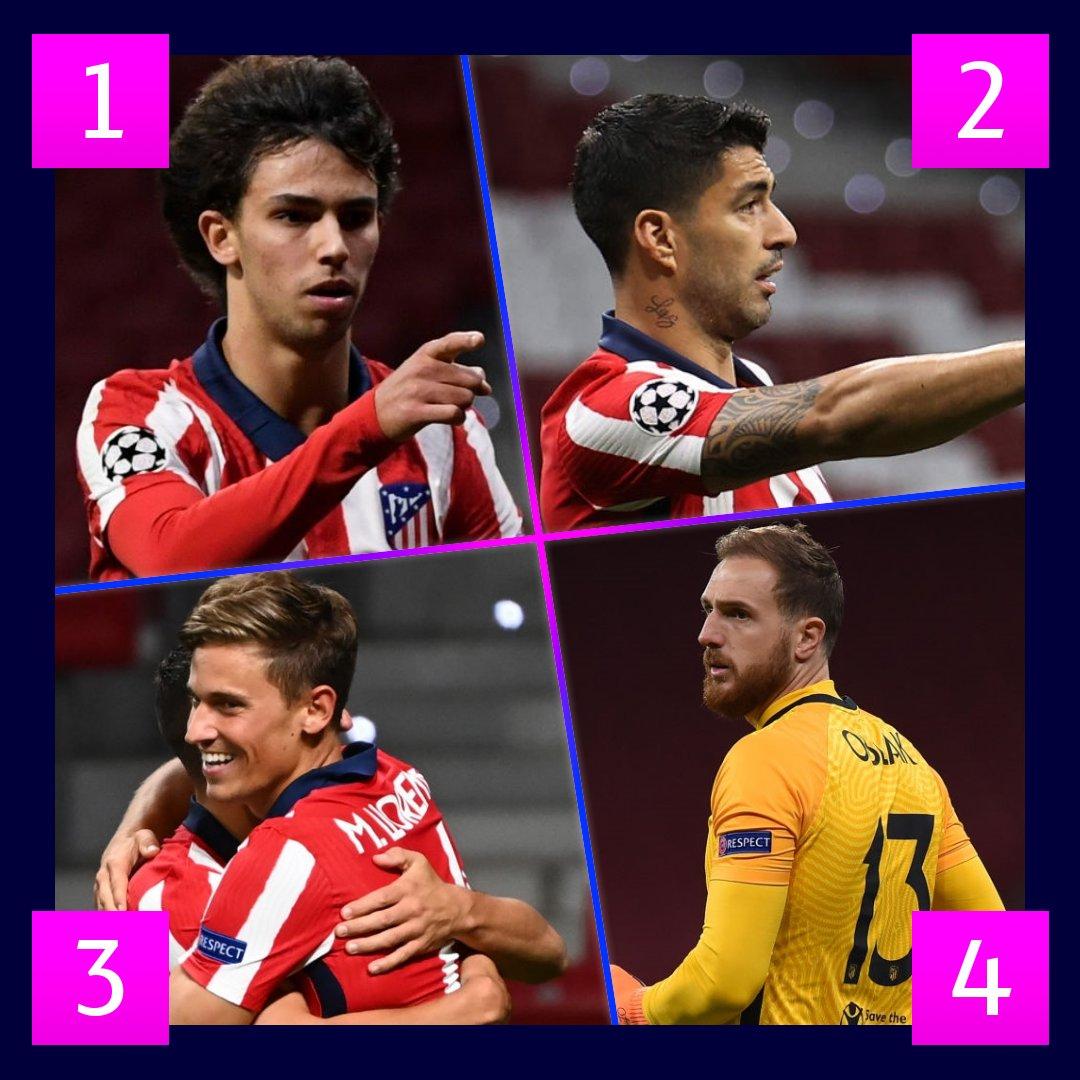 🙌 Cada vez más líder de @LaLiga...  ¿Quién es tu jugador preferido del @Atleti? ❤🤍  #UCL
