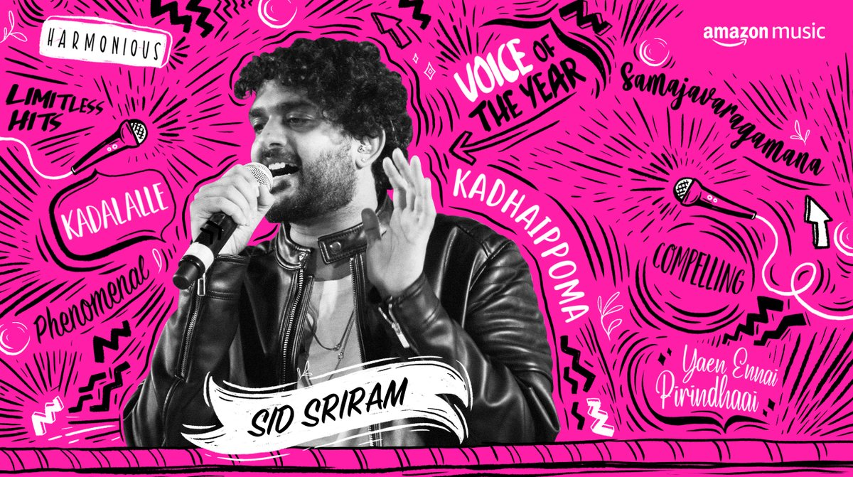 Listening to the voice of the decade @sidsriram, has left us wanting for more💞  🎧 Telugu:  🎧 Tamil: