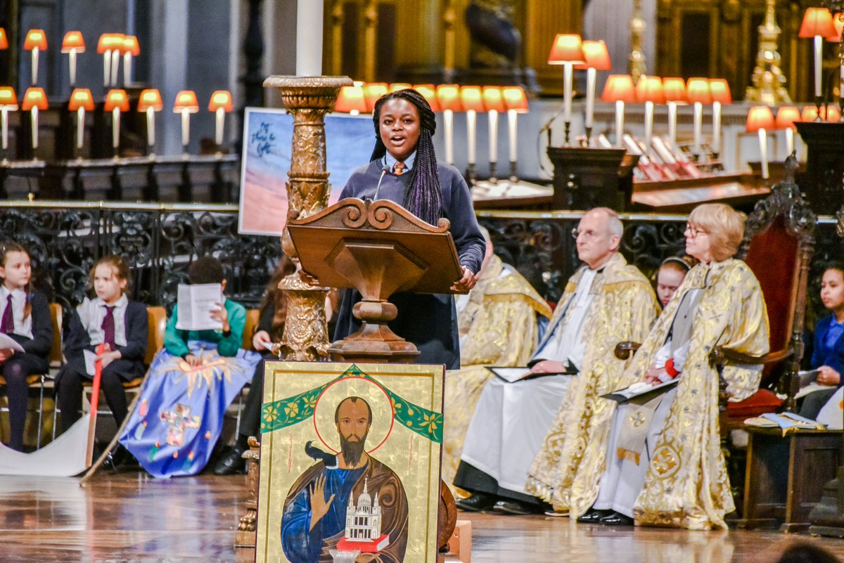 A year ago the school celebrated our 500th anniversary during a service led by the Bishop of London at St Paul's!