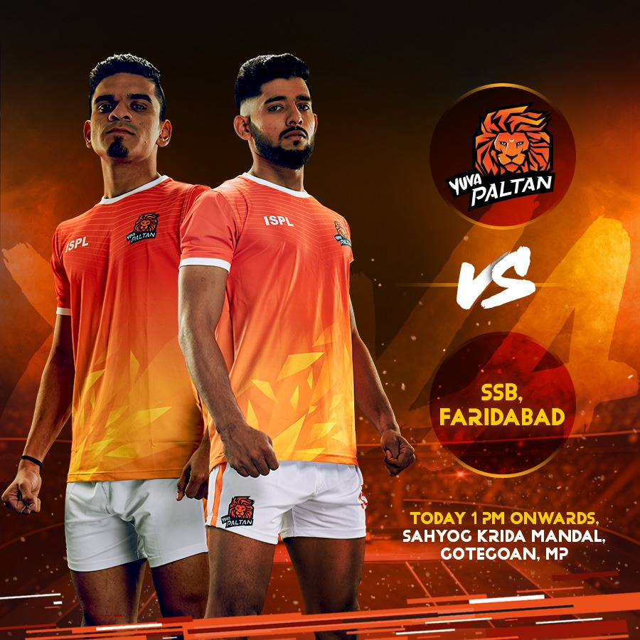 Yuva Palan is back on the mat for their second match against SSB, Faridabad, starting soon. 💪  👍Best of luck to the team! Stay tuned to our stories for the LIVE match link. . . #YuvaPaltan #GheunTak #BhaariPaltan #38thAllIndiaMensKabaddiChampionship #Kabaddi #KabaddiMatch