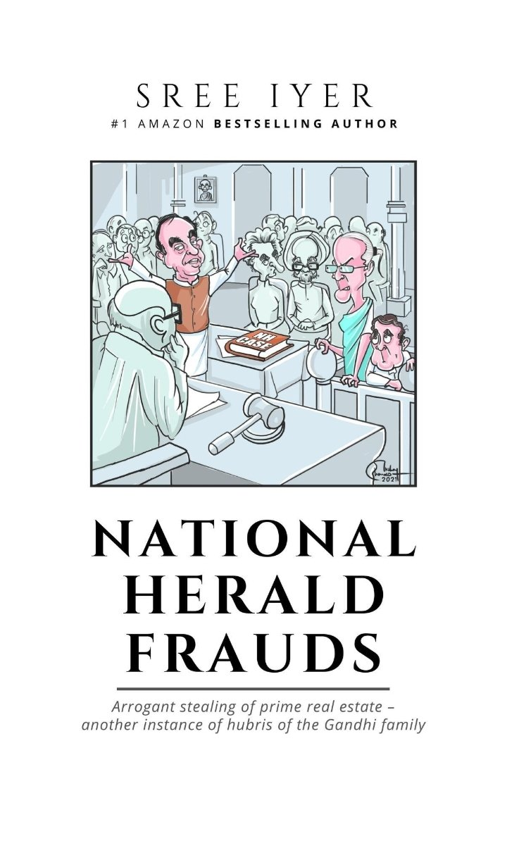 Dr.@Swamy39 Ji, #NationalHeraldFrauds Money Laundering, Tax Evasion & Illegal capture of prime real estate by the ruling family with impunity, all done in plain sight. To top that family does not pay taxes for the income from it. By @SreeIyer1 Ji. Link👇🏽
