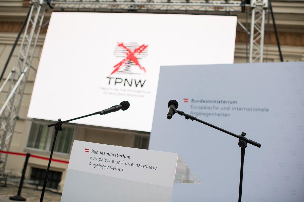 Die Pressekonferenz mit Außenminister #Schallenberg anlässlich des Inkrafttretens des Atomwaffenverbotsvertrags #TPNW wird in Kürze live übertragen: facebook.com/Aussenminister…