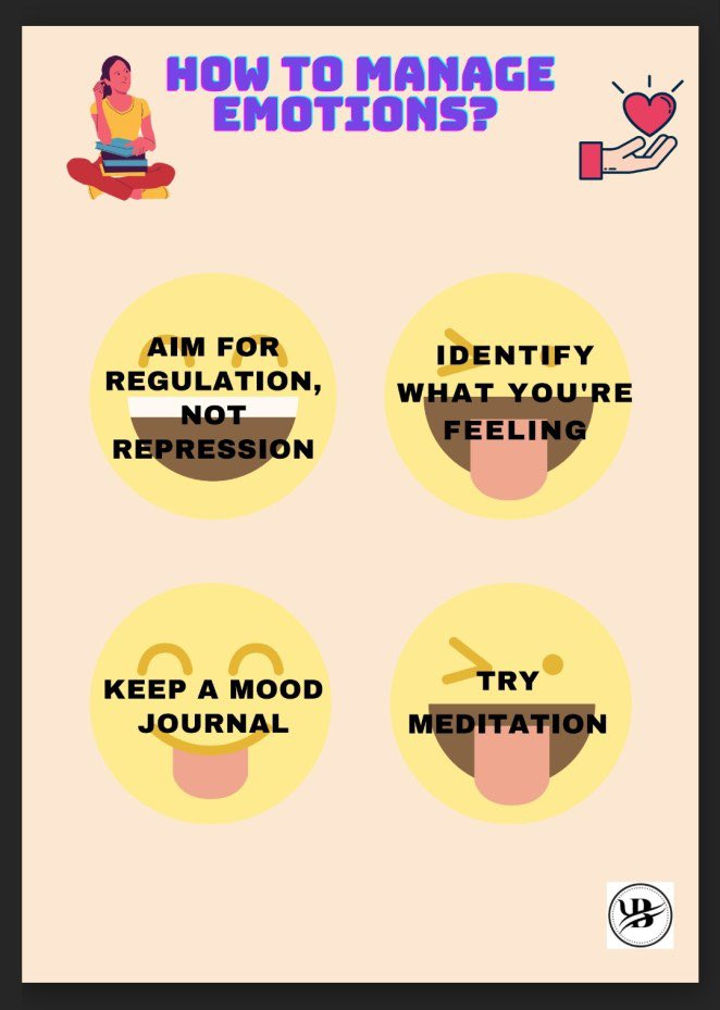 How to manage emotions effectively?    #Emotions #Psychology #learning #disorders #MentalHealthMatters #friday #Meditation #journaling #happy #life #wellness #wellbeing #follow #influencer #weekendvibes #mood #health #motivation #weekend