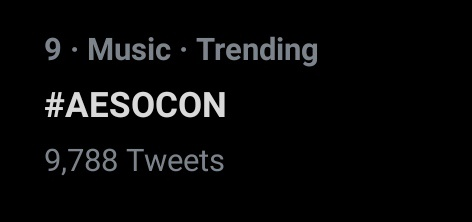 literally trending worldwide omg #AESOCON