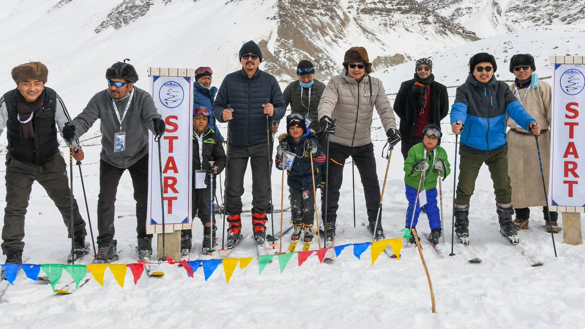 Get acclimatized first and be fit so that you can feel the spectacular beauty of Zanskar and enjoy Khelo India Winter Sports Festival!  Life is tough because of high altitude with freezing cold of minus -20°C in Day time and -32°C at night! But now the mood of Zanskar is lit-up!