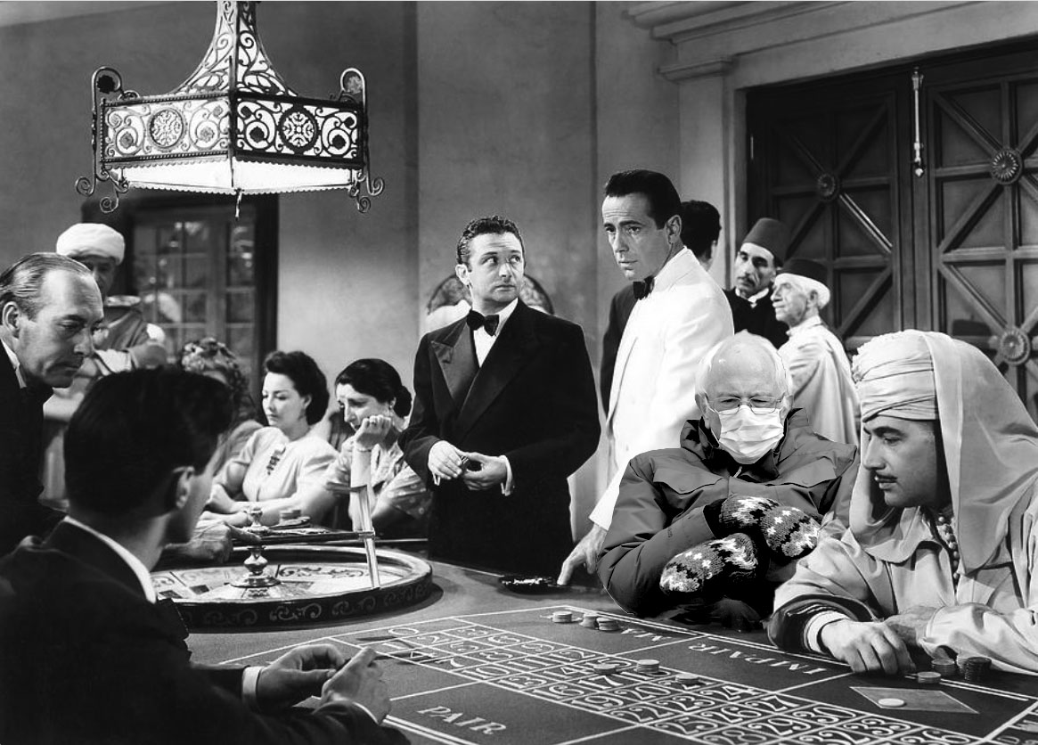Of all the gin joints... he had to sit in #casablanca? #Berniememes #BernieSits