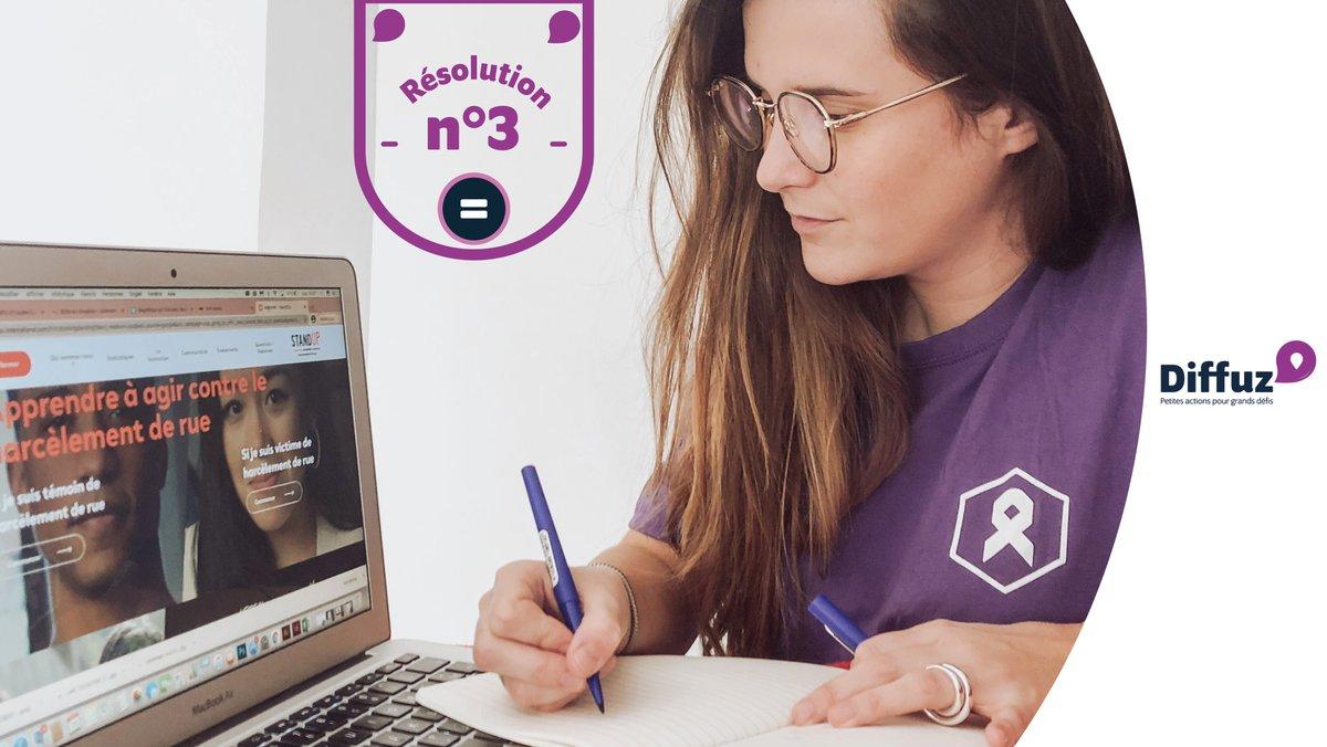 [🙋♀️🙋🏿♀️🙋🏻#ResolutionSolidaire #Diffuz] On découvre la formation en ligne contre le harcèlement de rue avec @Fondationfemmes !  Partagez et relevez le défi : 👉