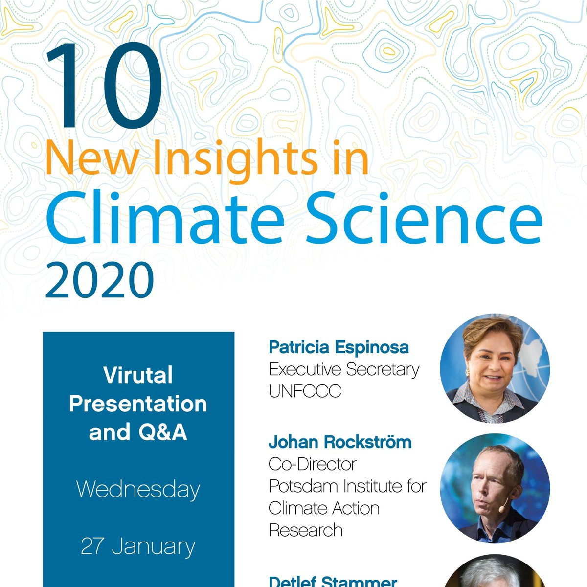 Interested in 10 new insights on #climatechange - must-knows, compiled by 57 researchers from 21 countries @FutureEarth? Join the online presentation by @PEspinosaC @UNFCCC, @jrockstrom @PIK_Climate et al on 27 Jan, 17.00 CET. Register here: