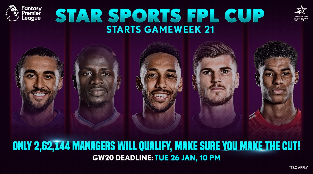 Ready for the first-ever Star Sports FPL Cup? 🇮🇳  The top 2,62,144 Managers from GW20 will qualify, so make your team wisely. 𝙒𝙚 𝙝𝙖𝙫𝙚 𝙨𝙤𝙢𝙚 𝙚𝙭𝙘𝙞𝙩𝙞𝙣𝙜 𝙥𝙧𝙞𝙯𝙚𝙨 𝙞𝙣 𝙨𝙩𝙤𝙧𝙚 😍 #FPL