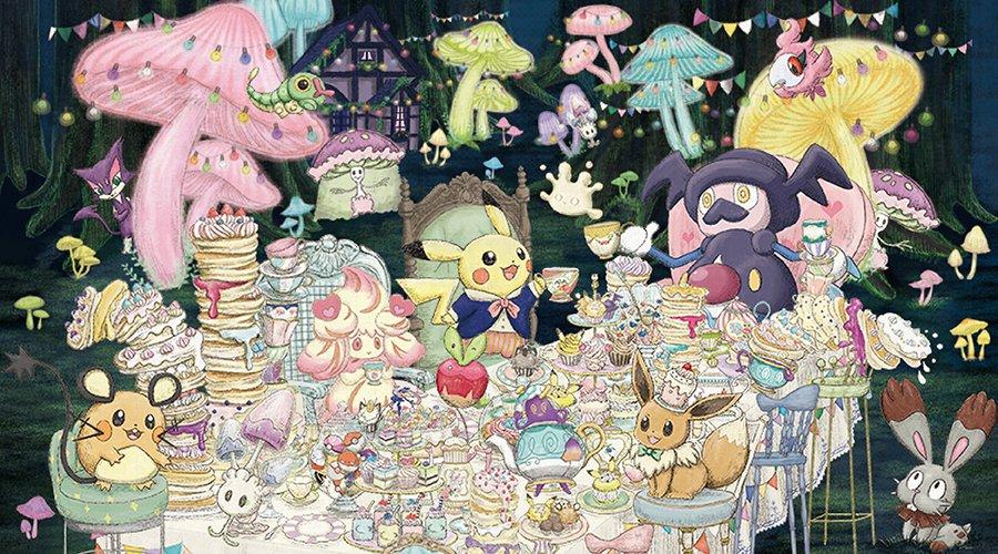 Nueva colección de merchandising de Pokémon Mysterious Tea Party anunciada en Japón (1 de 2):