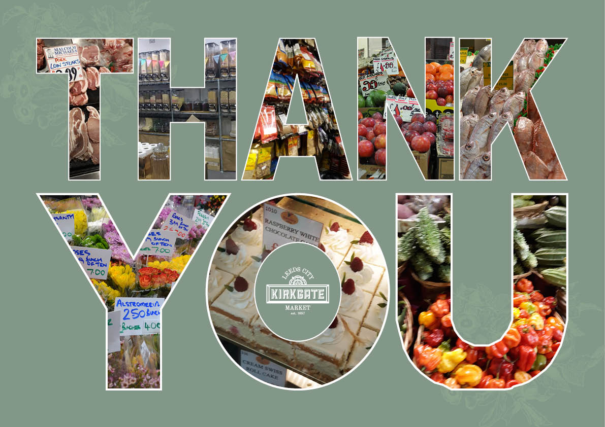 Good morning from @LeedsMarkets . A bit brighter in Leeds today 🌞🌞 Thank you for continuing to support all our traders who are here for you. We have 41 traders open within the #indoor market and our fresh fruit and veg traders are open on the #outdoor market.