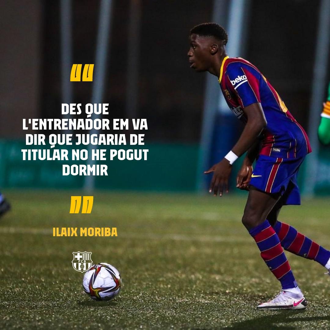 💙❤️ Les sensacions abans d'un debut amb el Barça 🔝 @IlaixMK