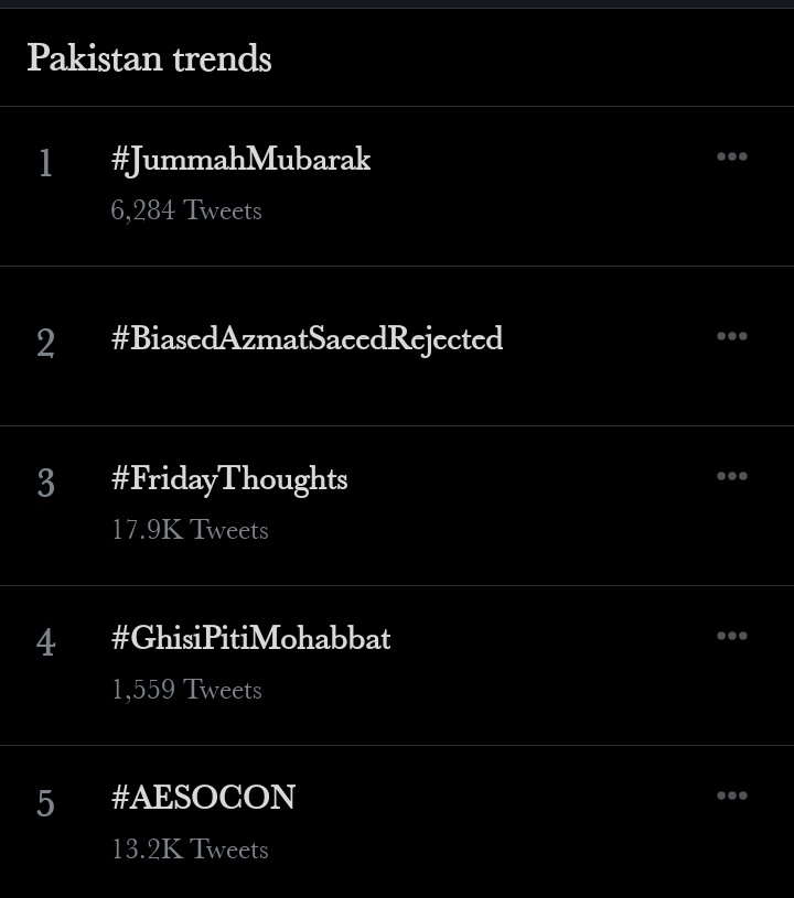 Trending at #5 in Pakistan 😭😂  #AESOCON