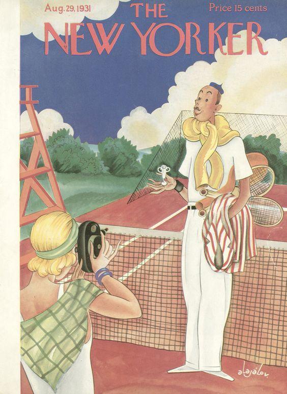 The New Yorker, 1931. ✏️ Constantin Alajalov #Tennis #Tenis