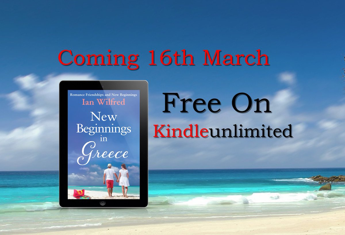 ICYMI I had a cover reveal for my new book I'm heading back to the Greek Island of Holkamos .... NEW BEGINNINGS IN GREECE is a story with secrets romance and friendships   99p/99c kindle free kindle unlimited #Greece