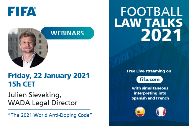 FIFA FOOTBALL LAW TALKS 2021starting today Live stream on  TO JOIN THE EVENT 👇   More Info  👇
