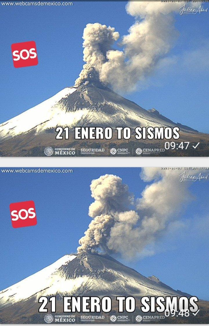 #tosismos #tusismos2386 #explosion #Popocatepetl  Explosiòn de volcán Popocatépetl día 21 enero por la mañana 9;47 hrs. ➖➖➖➖➖ Gracias por tu preferencia ala cuenta . Puedes seguirnos en face y tekegrama.